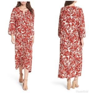 Hinge Floral Print Maxi Dress Size Medium